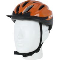 Capacete Para Bike Mtb Com Led Atrio Bi138 - Adulto - Laranja