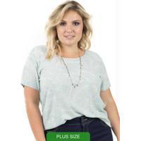 Blusa Com Estampa Rotativa Verde