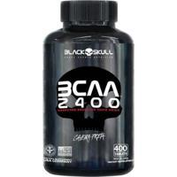 Aminoácido Bcaa 2400 Caveira Preta 400 Tabs - Unissex