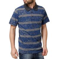 Camisa Polo Drop Life Masculina - Masculino-Azul