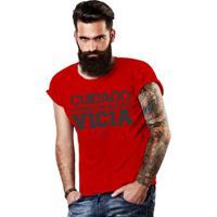 Camiseta Cuidado Six Points Futebol Americano Vicia - Masculino