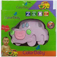 Brinquedo Musical Color Baby Carrinho Lilás
