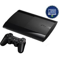 Console Playstation 3 Super Slim Com 500Gb - Fabricado No Brasil Com 1 Ano De Garantia