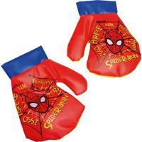 Par De Luvas De Boxe Spiderman®- Vermelho & Azul- 24Etilux