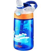 Garrafa Infantil 414 Ml Contigo Gizmo Flip Azul Com Bico E Canudo Retrátil - Unissex-Azul