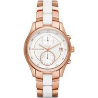 b604e44e58f7a ... Relógio Michael Kors Feminino Briar - Feminino-Rose Gold