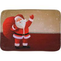 Tapete Para Banheiro Natal- Bege & Vermelho- 60X40Cmmabruk