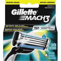 Carga Gillette Mach3 - 4 Unidades