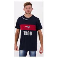 Camiseta New Era Nfl New England Patriots Marinho E Vinho