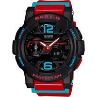 Relógio Casio Baby G G-Lide - Unissex-Preto+Vermelho