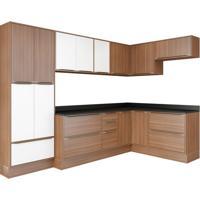Cozinha Completa Mavi 16 Pt 4 Gv Branco E Nogueira