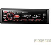 Auto Rádio Mp3 Player - Pioneer - Media Receiver - Cada (Unidade) - Mvh-98Ub