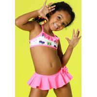 Biquíni Kids Coruja Com Proteção Uv Fps 50 Puket