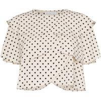 Rejina Pyo Scallop Layered Polka Dot Print Blouse - Neutro