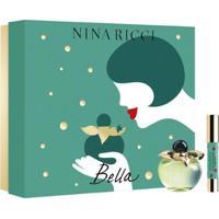 Kit 1 Perfume Feminino Nina Ricci Bela Edt 80Ml + 1 Batom Lipstick Bella - Unissex-Incolor