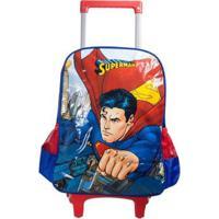 Mochila Luxcel Com Rodinhas Superman - Masculino