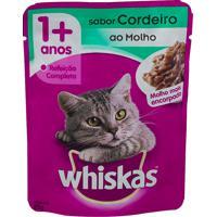Ração Para Gatos Whiskas Adulto 1+ Anos Sachê 85G Sabor Cordeiro Ao Molho Mais Encorpado