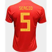 0c52b39537a39 Netshoes  Camisa Seleção Espanha Away 2018 N° 15 Ramos - Torcedor Adidas  Masculina - Masculino