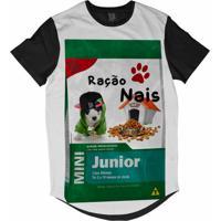 Camiseta Longline Lf Ração Nais Junior Sublimada Branca