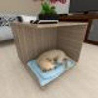 Casinha Cachorro Cão Com Rodinhas Mdf Amadeirado Escuro