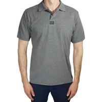 Camisa Polo Hang Loose Masculina - Masculino-Cinza