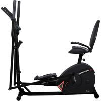 Bicicleta Horizontal + Elíptico Dream Fitness Energy Double Preta