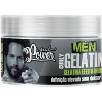 Gelatina Invisível Soul Power Men Curly 250G - Unissex-Incolor