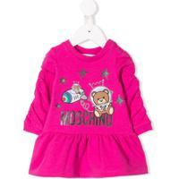 Moschino Kids Vestido Com Ursinho - Rosa