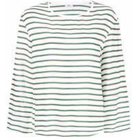 Closed Striped Top - Branco