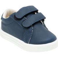 Tênis Com Velcro & Recortes- Azul Marinhobambini