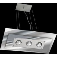 Pendente Saturno Aluminio E Vidro Lmr 141 Escovado Espelhado Bivolt
