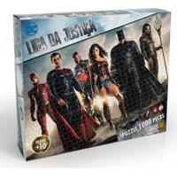 Quebra-Cabeça - Liga Da Justiça - O Filme - 1000 Peças - Grow - Unissex-Incolor