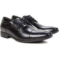 Sapato Social Couro Democrata Air Conforto - Masculino-Preto+Chumbo