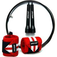 Kit Munhequeira + Speed Rope Com Rolamento - Unissex