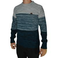 Blusão Free Surf - Masculino-Cinza+Azul