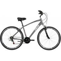 Bicicleta Caloi 700 - Aro Parede Dupla - Câmbio Traseiro Shimano - 21 Marchas - Cinza