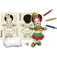 Boneca De Pano Baiana Alegria Sem Bateria Colorido