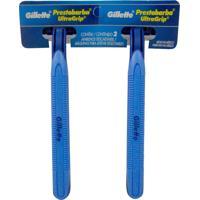 Aparelho De Barbear Gillette Prestobarba Ultragrip Pele Sensível Com 02 Unidades