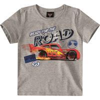 Camiseta Carros® - Cinza & Vermelha- Malweemalwee