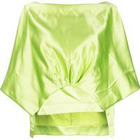 Rosie Assoulin Blusa Mangas Curtas - Verde