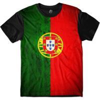 Camiseta Bsc Bandeira Portugal Sublimada Masculina - Masculino