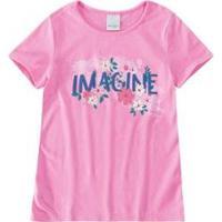 Blusa Infantil Ampla Estampada Malwee Kids Feminina - Feminino-Rosa Claro