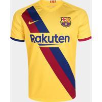 Camisa Nike Fc Barcelona Stadium Away 19/20 Masculina Amarelo/Bordo - P