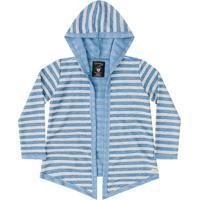 Casaco Com Capuz Infantil Azul Quimby