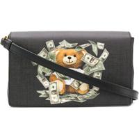 Moschino Bolsa Transversal Com Estampa De Urso Teddy E Dólar - Preto