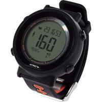 Monitor Cardíaco + Cinta Fortius Com Contador De Calorias Cronômetro Alarme Preto Atrio - Es049 - Padrão