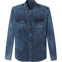 Camisa John John Lucas Jeans Azul Masculina (Jeans Escuro, P)