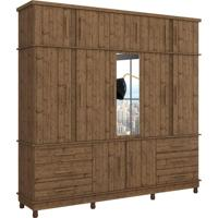 Guarda-Roupa Casal Com Espelho Silverado 12 Pt 6 Gv Pinus Real