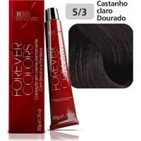 Coloração 5-77 Castanho Claro Marrom Forever Colors 50G