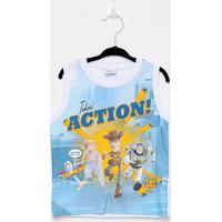 Regata Infantil Fakini Toy Story Action Masculina - Masculino-Branco